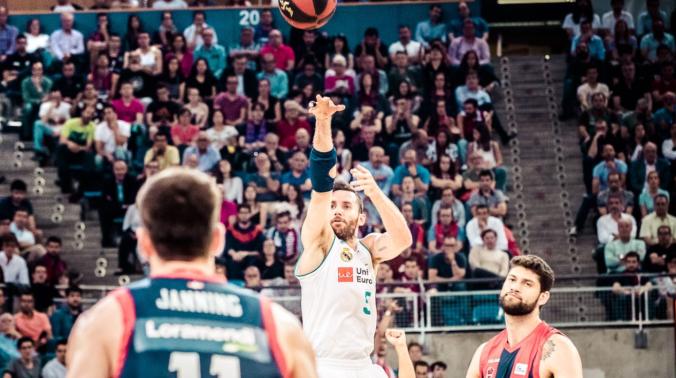Rudy Fernández y Garino en la final de la ACB 2018