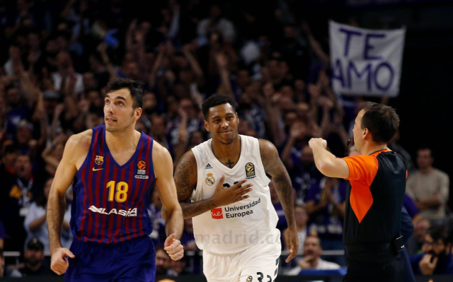 Trey Thompkins Barcelona Real Madrid Euroliga