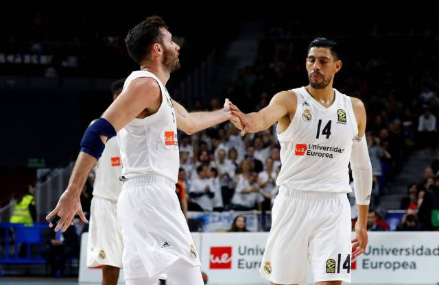 Rudy Fernández y Gustavo Ayón euroleague Real Madrid maccabi