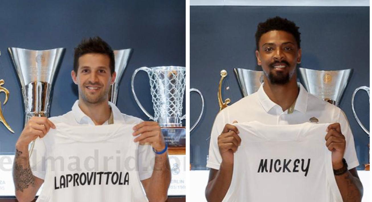 Laprovittola y Jordan Mickey presentación Real Madrid