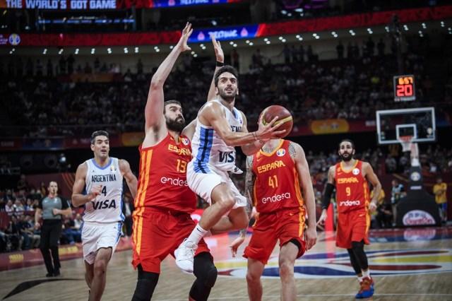 Facu Campazzo en la final del Mundial 2019 - España y Argentina