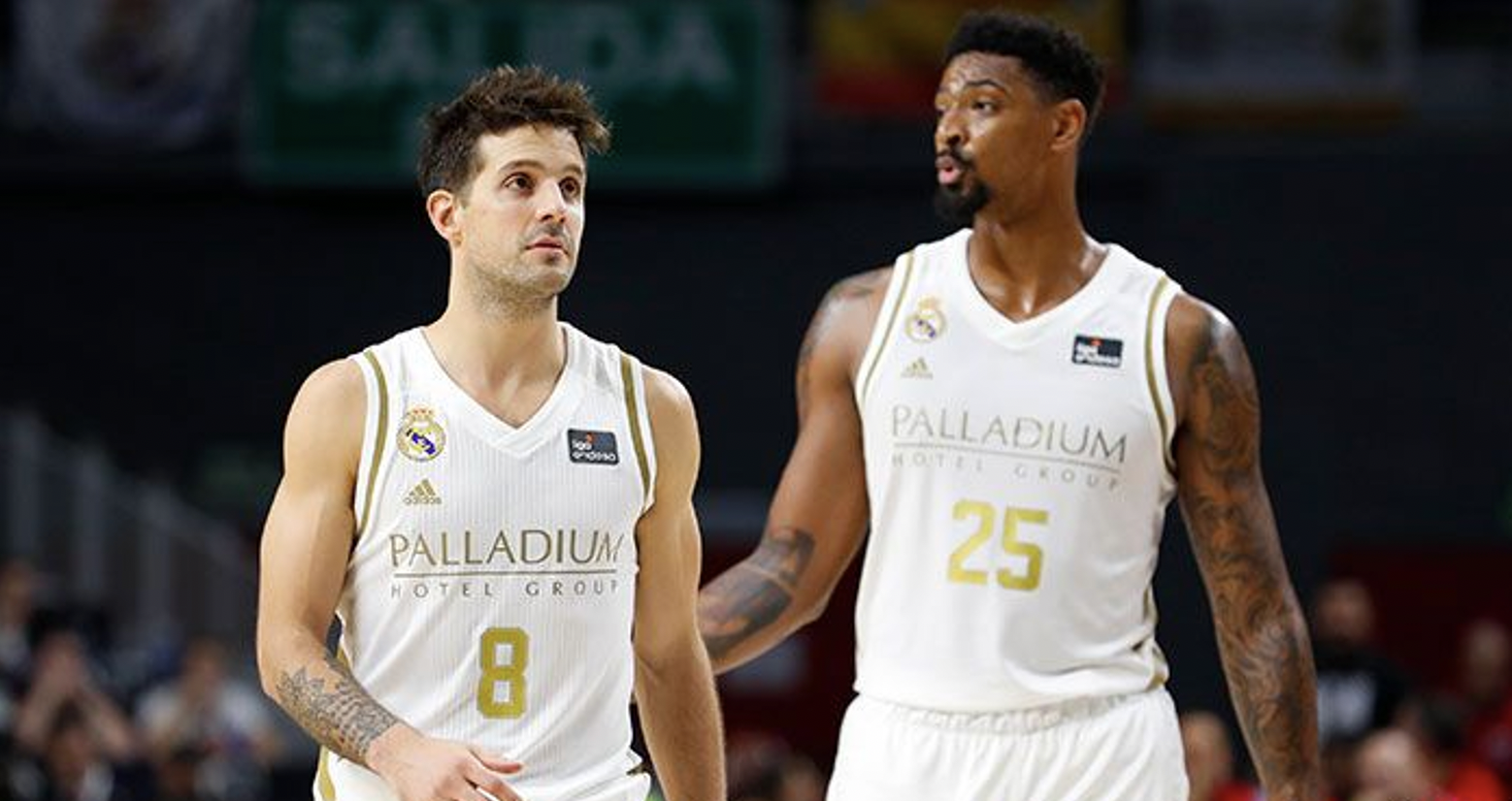 Jordan Mickey y Nicolás Laprovittola (Real Madrid)